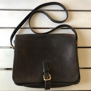 Vtg Coach Messenger Leather Crossbody Brown Bag